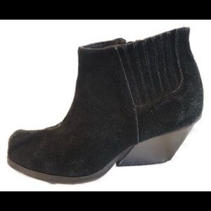 Cheap Monday black suede ankle booties sz 8